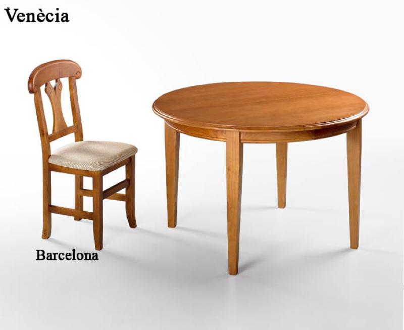 Taula ven cia i cadira barcelona mobles avet blau - Cadira barcelona ...