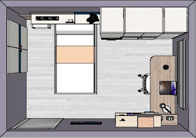 Simulació d'habitació juvenil nº1