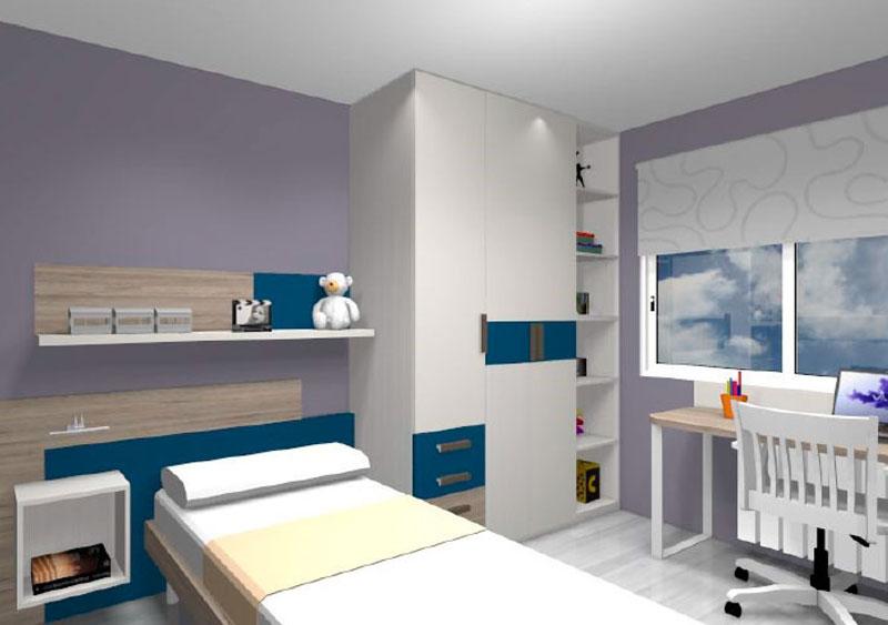 Simulació d'habitació juvenil nº2