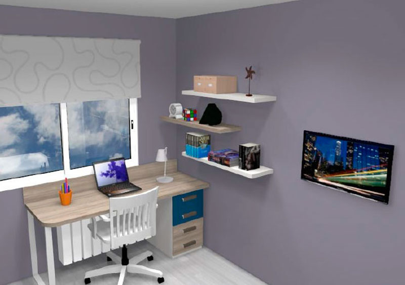 Simulació d'habitació juvenil nº3